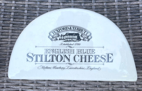 Vintage Dairy Grocers Advertising Ironstone English Stilton Cheese Dish Tuxford Tebbutt