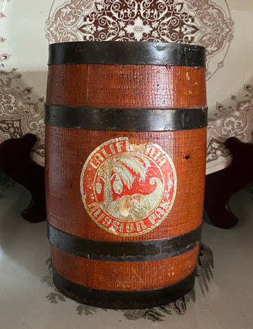 Vintage / Antique Wooden Olive Barrel Keg - Great for LAMP