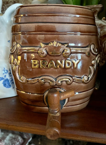 Vintage BRANDY English Spirits Decanter / Liquor Bottle for Lamp / Decor / Bar