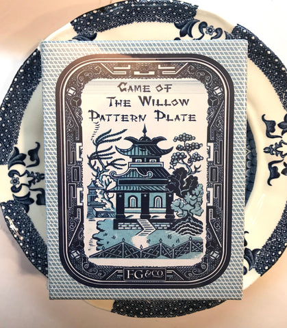 Card Game of the Blue Willow Pattern Plate Vintage Parlour Games