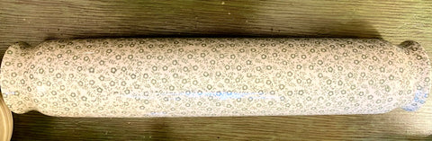Rare! Green English Ironstone Rose Chintz Transferware Rolling Pin  Kitchen Decor