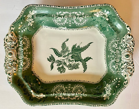 Copy of Spode Copeland Camilla Green Transferware Handled Serving Dish