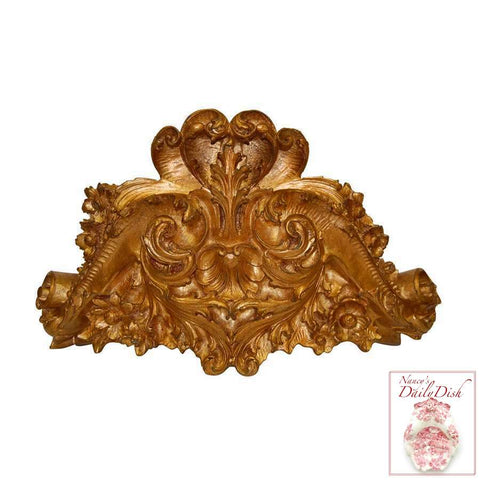 STUNNING ROCOCO BED CROWN DOOR TOPPER ARCHITECTURAL
