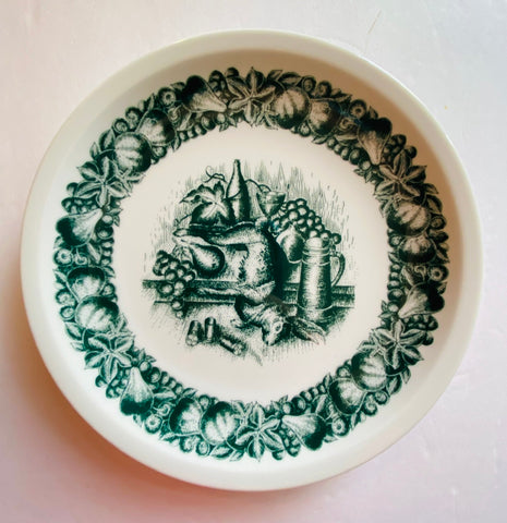 Vintage Bavarian Game / Hunt Plate Dead Rabbit Fruit