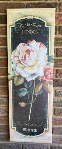 The English Rose Gardens in London Canvas Wrap Rose Garden Print
