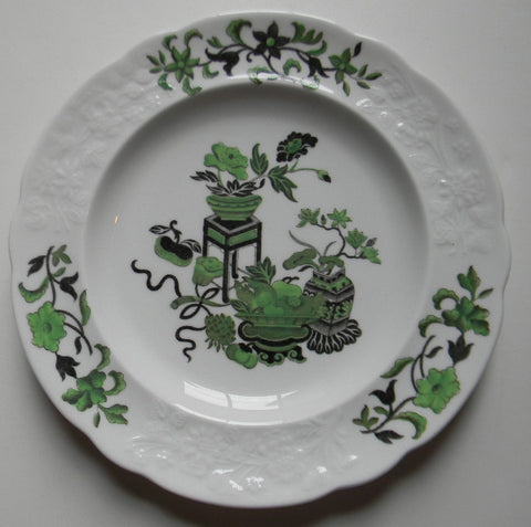 Spode Copeland Chinoiserie Style Plate Black Transferware Asian Toile