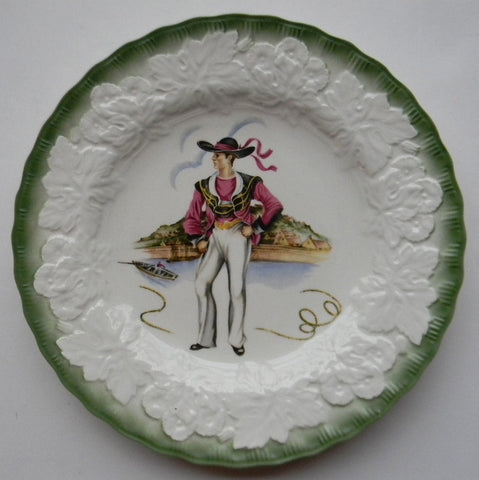 "Country French Hardy Folk Coast of Brittany  ""Costumes of 18th Century France"" Boy 4 of 4  Plate"