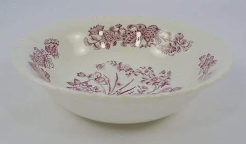 Wedgwood Purple Transferware Cereal Bowl Nautical Sea Shells & Botanicals