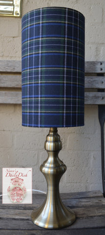English / Scottish Country Navy Blue Tartan Plaid Lamp & Drum Shade NEW