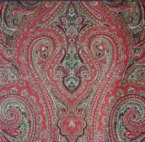 "Ralph Lauren Paisley Tablecloth 60"" x 84""  Fenton Red / Green New in Package"