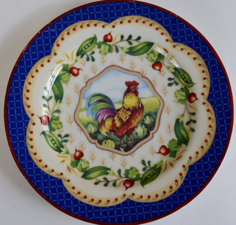 Country French Colorful Rooster Plate Andrea by Sadek Le Jardin