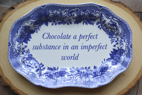 Spode Italian Blue Transfer Ware Miniature Platter Tray or Trinket Dish  Chocolate Lover Gift Blue Italian Birthday Gift