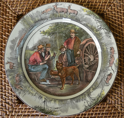 RARE! Royal Doulton Transferware Plate Staffordshire Bull Terrier Jock of the Bushveld