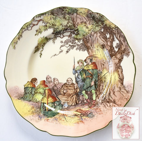 Vintage Royal Doulton Series ware Plate Under The Greenwood Tree Robin Hood