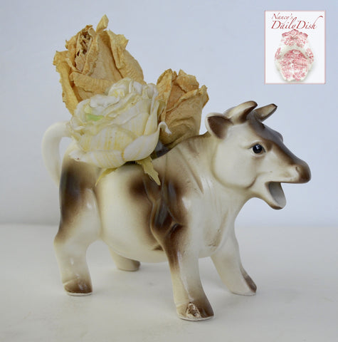 Vintage Antique Country French  Bull / Cow Figurine Creamer