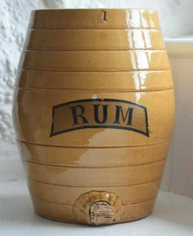 19-20C Antique English RUM Liquor Keg Spirits Barrel IDEAL FOR LAMP