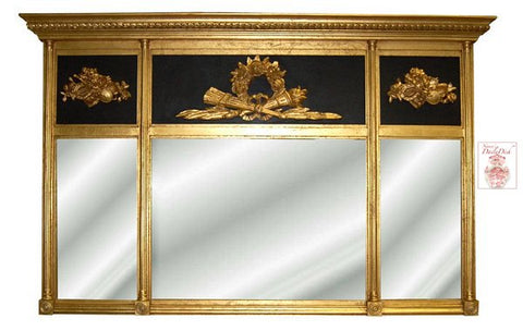 Hand Finished English Country House Massive Buffet or Mantle Mirror