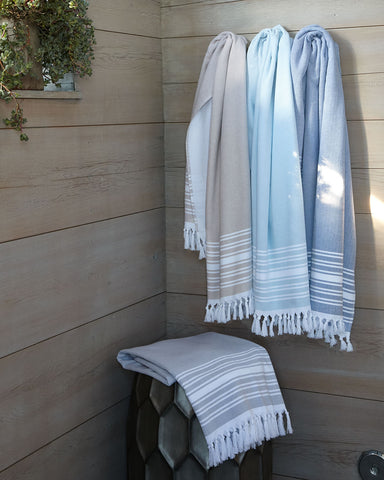 Fouta Peshtemal Turkish Terry Bath Towel / Table Runner French Country Farmhouse