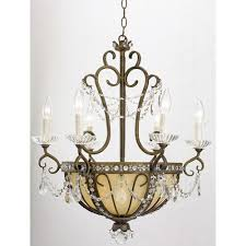 French Victorian Portfolio 9 Light Antique Bronze Marbleized Glass Candle Chandelier