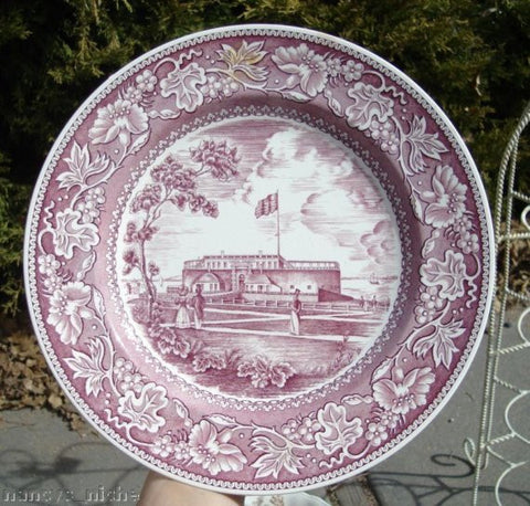 WEDGWOOD PURPLE TRANSFERWARE George Washington Inauguration Historical