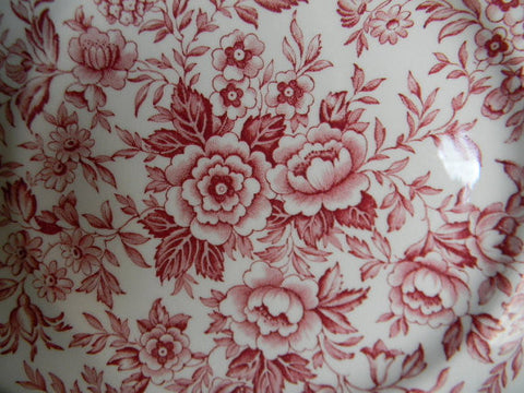 red toile roses daisies blue bells vintage english floral chintz trans