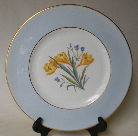 RARE English Transferware Charger Plate George Jones Spring Crocus Hand Painted and Signed 1 in Series of 12