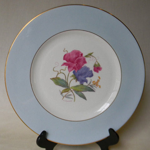 RARE English Staffordshire Charger Plate George Jones Spring Sweet Pea Hand Painted and Signed 2 in Series of 12