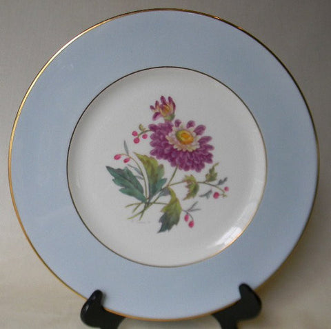English Staffordshire Charger Plate George Jones Spring Dahlia Hand Painted and Signed 6 in Series of 12 RARE