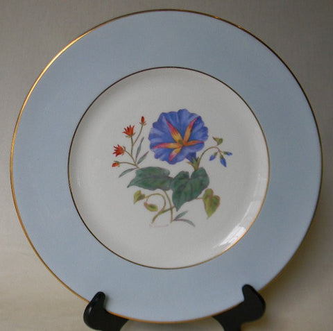 English Staffordshire Charger Plate George Jones Spring Morning Glory Hand Painted and Signed 7 in Series of 12 RARE