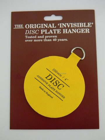 "#4 Invisible Adhesive Disc Hanger to Hang an 8.5""-12"" Plate or Platter on the Wall  (other sizes available to accommodate any size plate)"