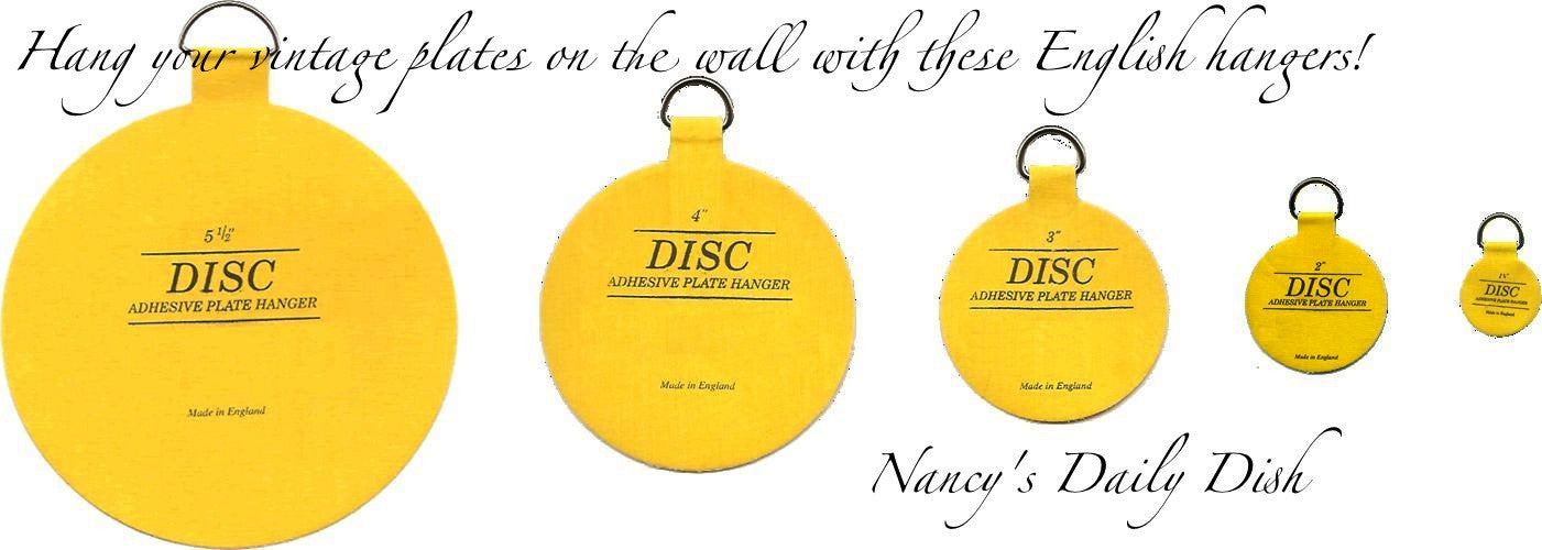 #3 Invisible Adhesive Disc Plate Hanger to Hang Plates on the Wall (other sizes available to accommodate any size plate) 3  size  sc 1 st  Nancyu0027s Daily Dish & 3 Invisible Adhesive Disc Plate Hanger to Hang Plates on the Wall (ot