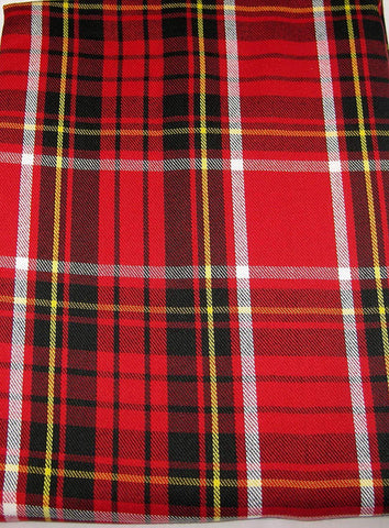 "Ralph Lauren Tartan Plaid Tablecloth 60"" x 104""  Red / Black / Yellow / White New in Package"