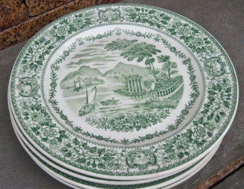 Green Transferware Plate for ML