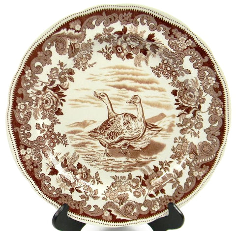 Spode Copeland Antique Brown Transferware Game Bird Plate  Wild Geese No. 10