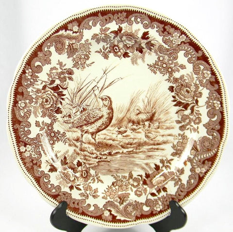 Spode Copeland Antique Brown Transferware Game Bird Plate Partridge No. 5