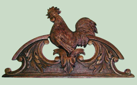 Hand Finished Country French Rooster Overdoor Picture Topper
