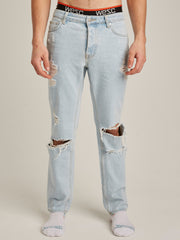 BOB DESTRUCTED BLEACHED DENIM