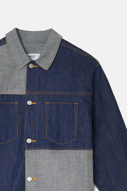RAW DENIM PATCHWORK JACKET