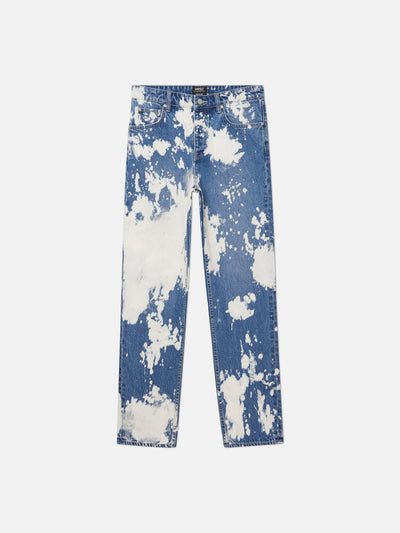 BOB BLEACH SPLATTER STRAIGHT LEG PANT