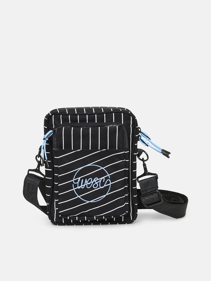PINSTRIPED CROSSBODY BAG