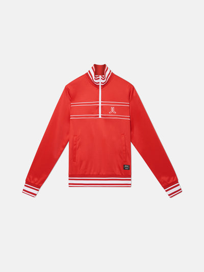 ATHLETIC RETRO 1/4 ZIP TRACK JACKET