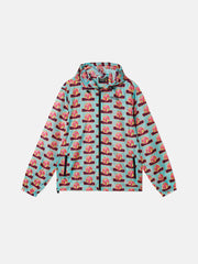 TRIP OUTSIDE AOP PACKABLE WINDBREAKER JACKET