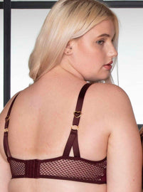 Burgundy everyday bra, the Tutti favourite Lydia bra is cute and comfortable offering a flattering style and design