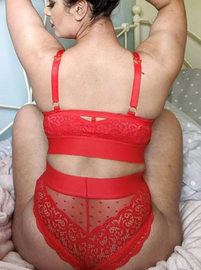 This sexy high waisted red brief will spice up your lingerie collection and make you feel amazing available in plus sizes