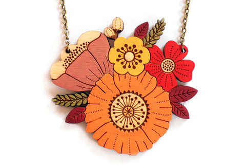 Autumn Posy Necklace