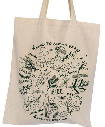 Garden Herbs Shopper in Cotone