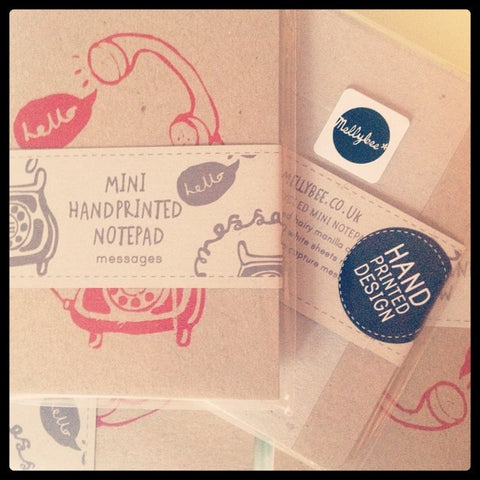 Telephone handprinted notepad