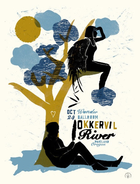 Okkervil River Screen Printed Poster