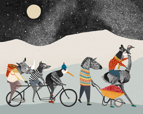 Bicycle Animals Print
