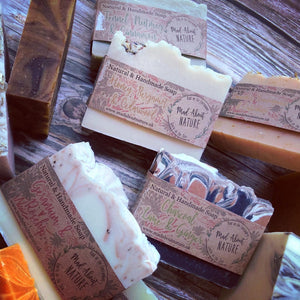 All Natural 'Shave Shower Shampoo' soap bar with shaving brush - Mad About Nature